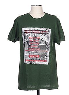 T-shirt manches courtes vert CLIQUE pour homme