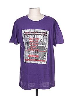 T-shirt manches courtes violet CLIQUE pour homme