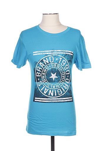 T-shirt manches courtes bleu CLIQUE pour homme