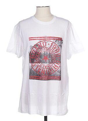 T-shirt manches courtes blanc CLIQUE pour homme