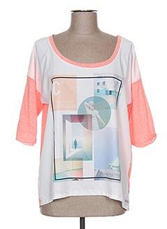 T-shirt manches courtes rose COQUELICOT pour femme