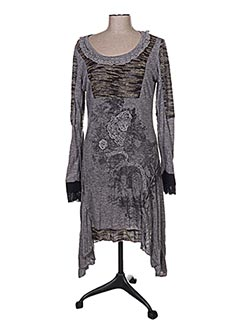 Robe pull gris CAITLYN pour femme