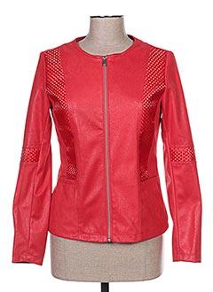 Veste casual rouge FREDA pour femme
