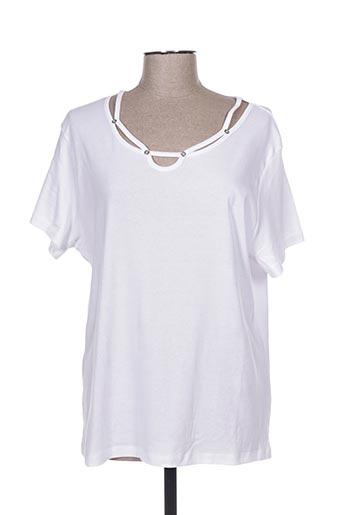 T-shirt manches courtes blanc ANGELLA pour femme