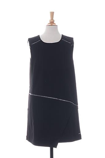 Robe mi-longue noir BOBOLI pour fille