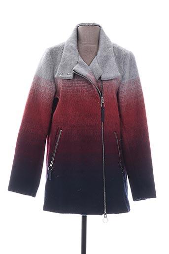 Manteau court rouge BENCH pour femme