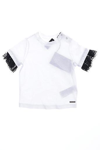T-shirt manches courtes blanc DSQUARED pour fille