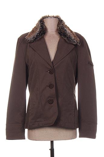 Veste casual marron FER pour femme