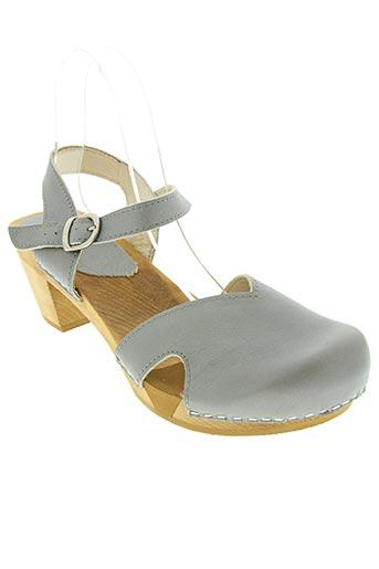 sanita chaussures femme de couleur gris