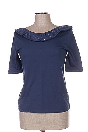 T-shirt manches longues bleu BLUNE pour femme