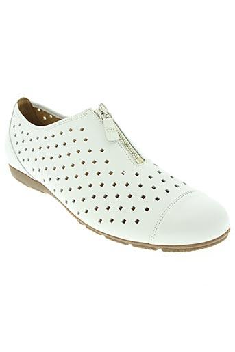 gabor chaussures femme de couleur blanc