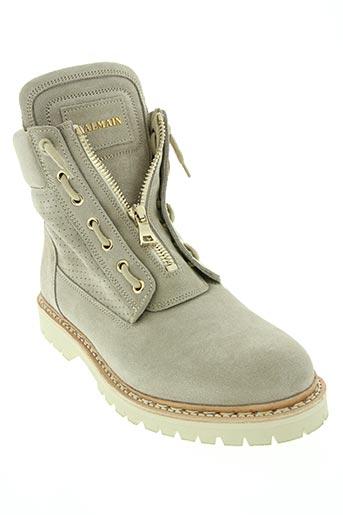balmain chaussures homme de couleur beige