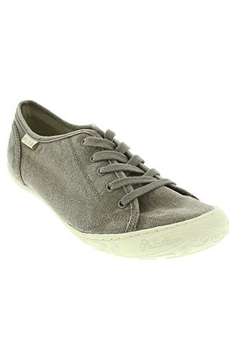 palladium chaussures enfant de couleur marron