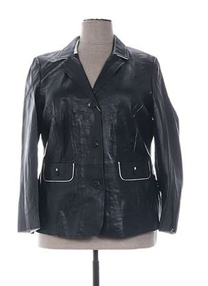 Veste en cuir noir EMILIA LAY pour femme