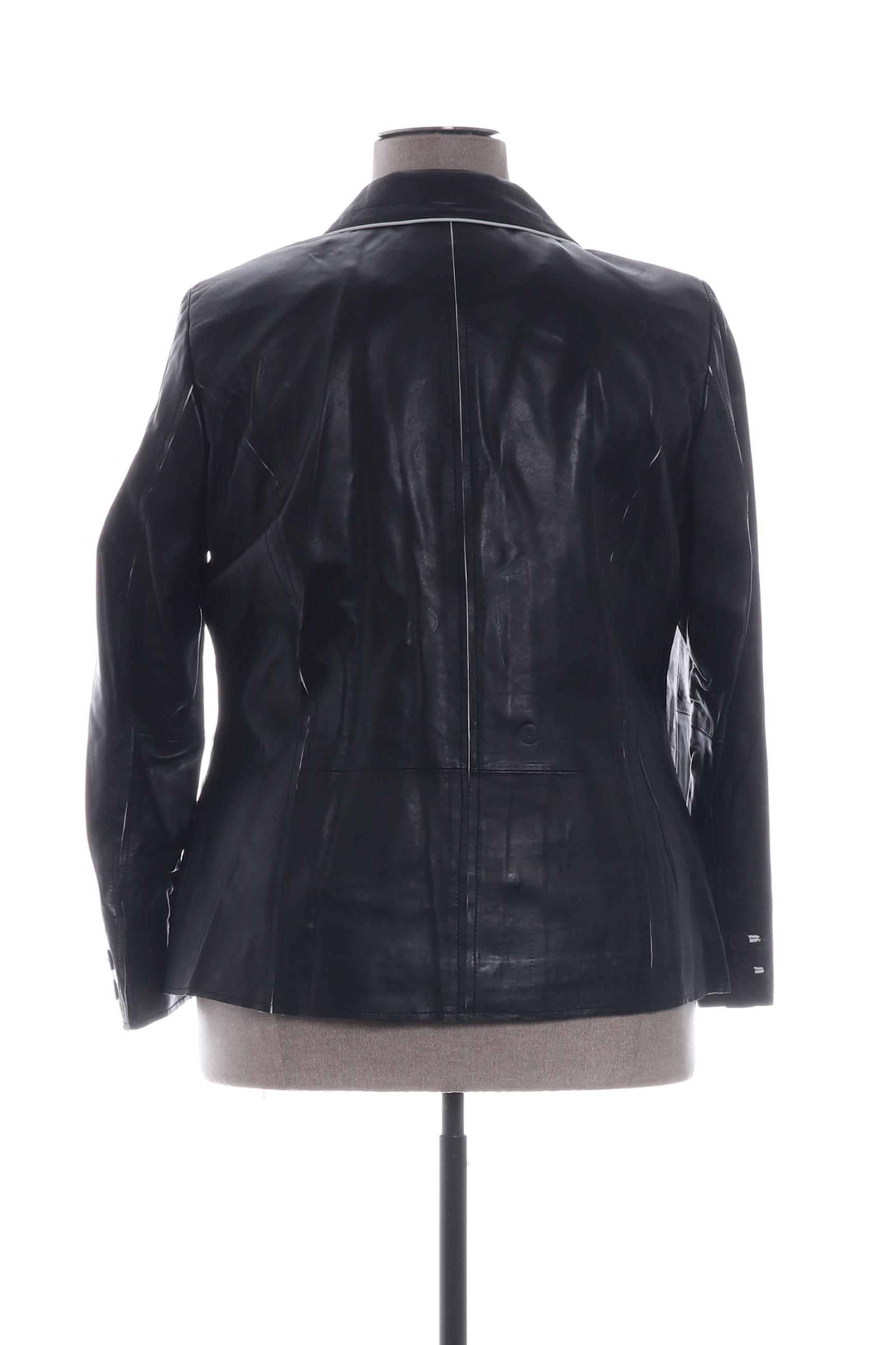 Emilia Lay Vestecuir Femme De Couleur Noir En Soldes Pas Cher 1299087-noir00