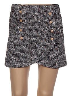 Mini-jupe noir CAPSULE pour femme