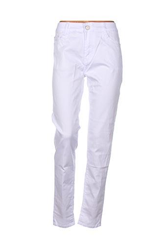 Pantalon casual blanc BS JEANS pour femme