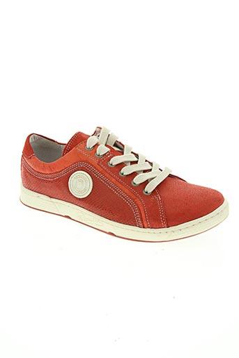 pataugas chaussures fille de couleur rouge