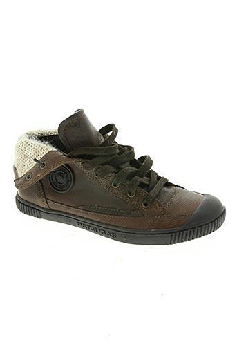 pataugas chaussures garçon de couleur marron