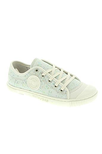 pataugas chaussures fille de couleur blanc