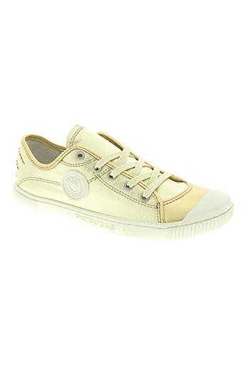 pataugas chaussures fille de couleur jaune