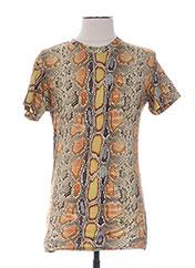 T-shirt manches courtes jaune GALLIANO pour homme seconde vue