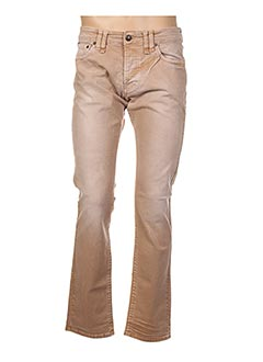 Jeans coupe droite beige GALLIANO pour homme