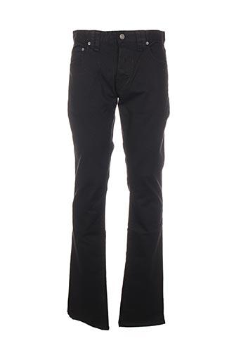 Jeans coupe droite noir GALLIANO pour homme