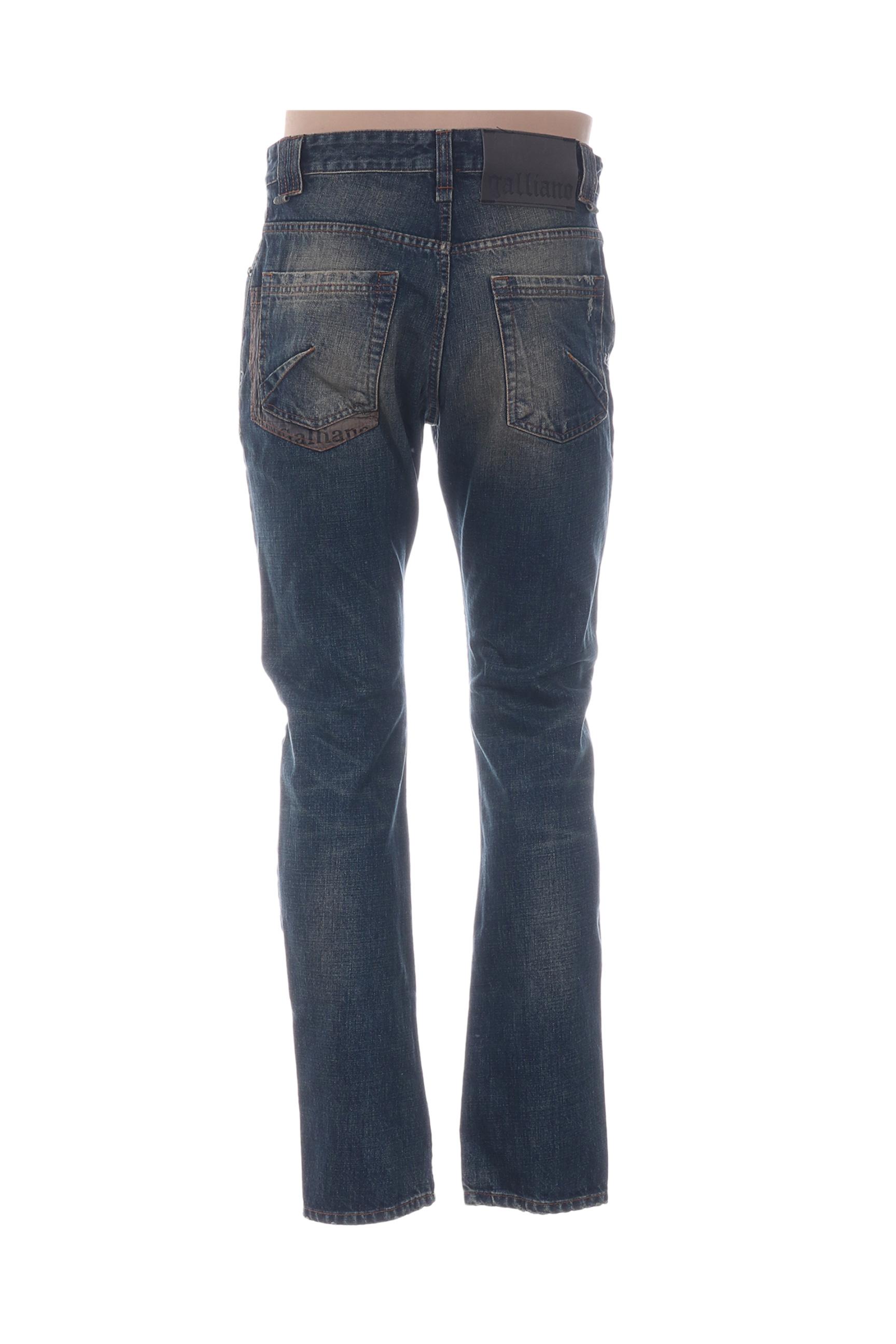 Galliano Jeans Coupe Slim Homme De Couleur Bleu En Soldes Pas Cher 1293387-bleu00