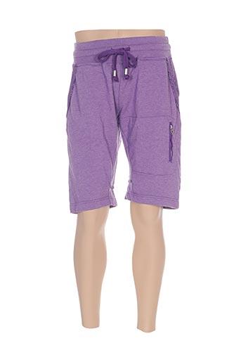 Bermuda violet GALLIANO pour homme