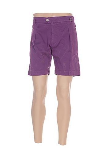 Short violet GALLIANO pour homme