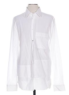 Chemise manches longues blanc GALLIANO pour homme