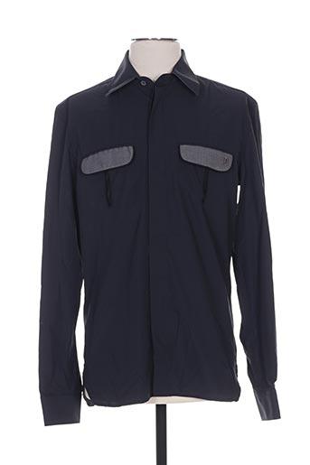 Chemise manches longues noir GALLIANO pour homme