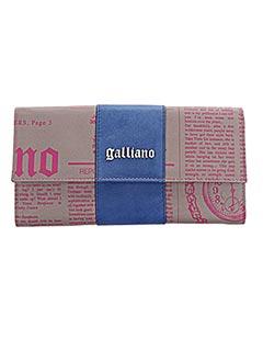 Portefeuille bleu GALLIANO pour femme