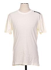T-shirt manches courtes beige GALLIANO pour homme seconde vue