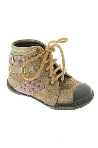 mod8 chaussures fille de couleur jaune