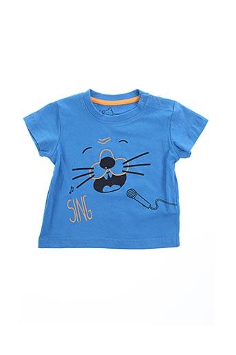 T-shirt manches courtes bleu LOSAN pour garçon