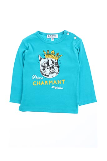 T-shirt manches longues bleu BULLE DE BB pour garçon