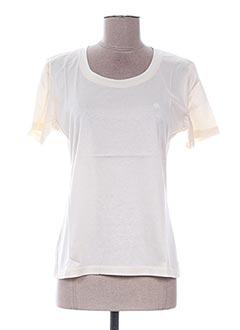 T-shirt manches courtes beige FRANK ALEXANDRE pour femme