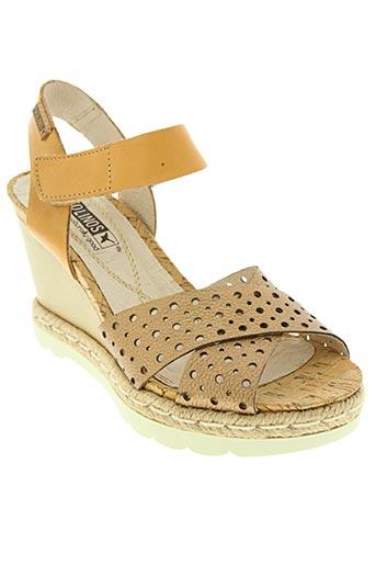 pikolinos chaussures femme de couleur marron