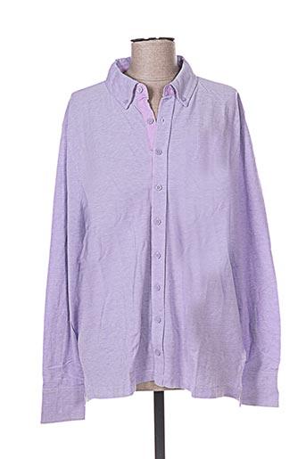 Chemise manches longues violet FIRENZE pour homme