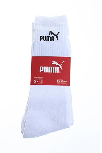 Chaussettes blanc PUMA pour unisexe