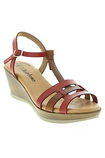 jordana chaussures femme de couleur rouge