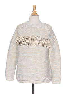Pull col rond beige CHLOE pour fille