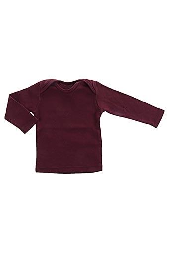 T-shirt manches longues rouge BONTON pour garçon