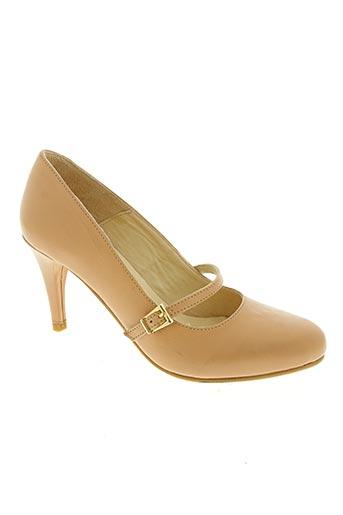 gerard pasquier chaussures femme de couleur beige