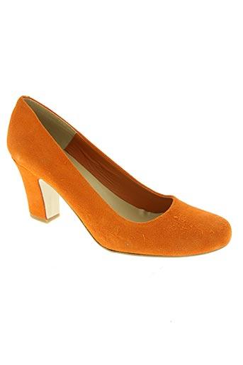 empreinte chaussures femme de couleur orange