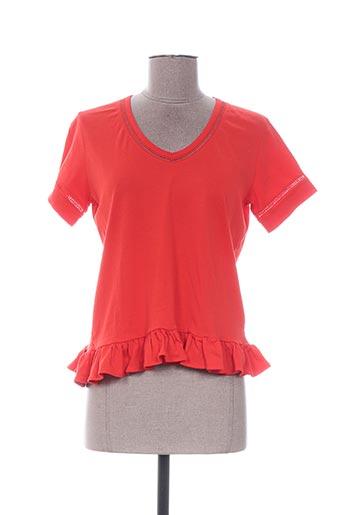 T-shirt manches courtes rouge MANOUSH pour femme