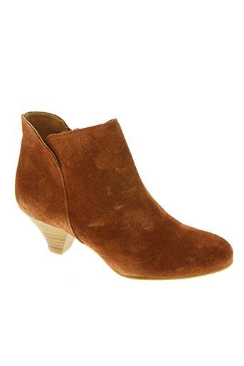 sessun chaussures femme de couleur marron