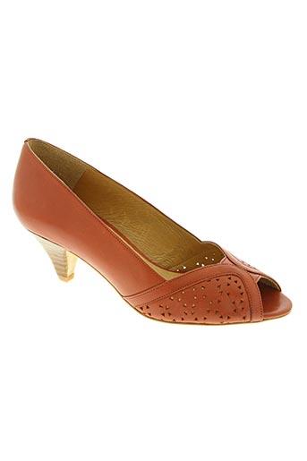 sessun chaussures femme de couleur orange